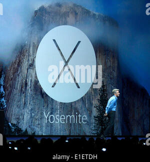 San Francisco, USA. 2nd June, 2014. Apple holds its World Wide Developers Conference (WWDC2014) in San Francisco, - Stock Photo