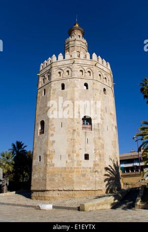 Torre del Oro (Gold Tower), Seville, Spain. - Stock Photo