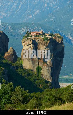 Greece, Thessaly, Meteora, Unesco World Hertitage, Holy Trinity monastery (Agia Triada) - Stock Photo