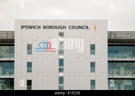 Ipswich Borough Council building - Stock Photo