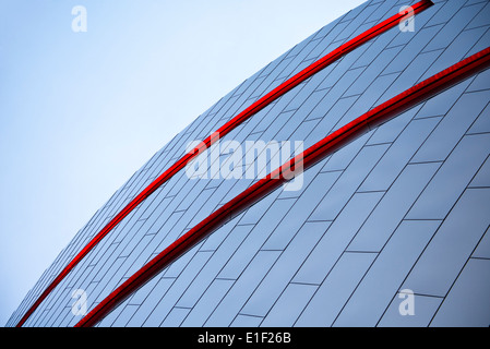 Abstract architectural detail of the Nascar Hall of Fame in Charlotte North Carolina - Stock Photo
