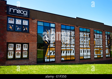 The MOOG Synthesizer Factory in Asheville North Carolina - Stock Photo