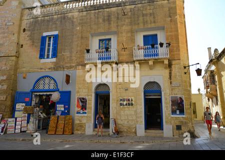 Mdina Glass Shop Mdina Malta Stock Photo 54979247 Alamy