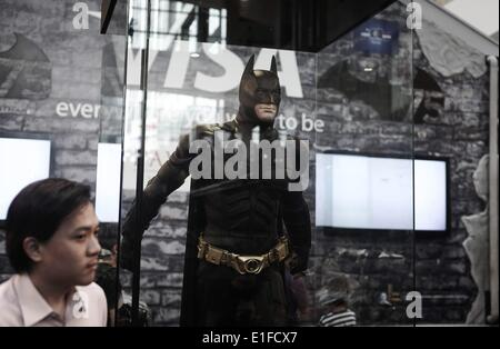 Kuala Lumpur, Malaysia. 2nd June, 2014. Batman figure on displayed during exhibition in conjunction with Batman 75th anniversary in shopping mall Kuala Lumpur on Jun 02, 2014.The Batman 75th Anniversary celebration Malaysia from 28 May 2014 & will run till 15 June 2014. Photo: Mohd FIrdaus /NurPhoto © Mohd Firdaus/NurPhoto/ZUMAPRESS.com/Alamy Live News Stock Photo