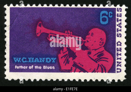 USA - CIRCA 1969: Postage stamp printed in USA, shows a jazz musician and composer, William Christopher Handy, circa - Stock Photo
