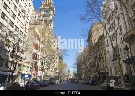 May Avenue on Sept 13, 2012 in Buenos Aires, Argentina. Street connects the pink house with the Congress - Stock Photo