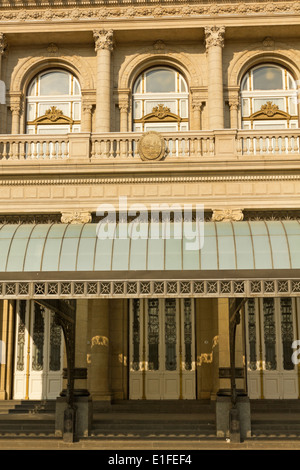 Columbus Theatre facade on 9 de julio Avenue at Buenos Aires, Argentina. This Opera House is considered one of the - Stock Photo