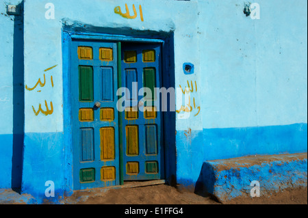 Egypt, cruise on the Nile river between Luxor and Aswan, Ramadi village - Stock Photo