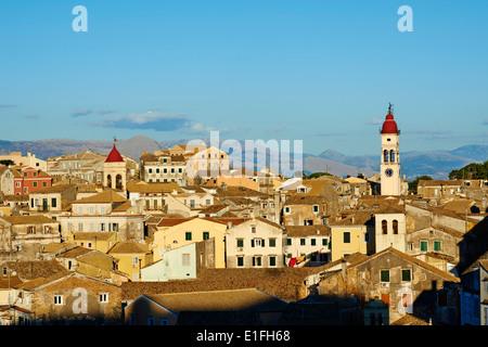 Greece, Ionian island, Corfu island, Kerkyra city, Unesco world heritage, Agios Spyridon church - Stock Photo