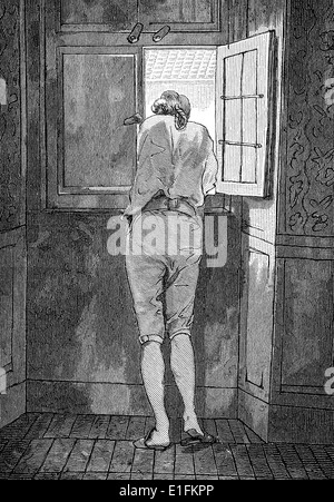Johann Wolfgang von Goethe, 1749 - 1832, a German poet, - Stock Photo