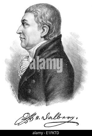 Wolfgang Heribert Tobias Dalberg, 1750 - 1806, director of the Mannheim Court Theater, - Stock Photo
