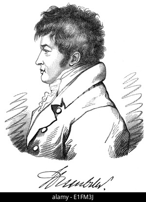 Friedrich Wilhelm Christian Carl Ferdinand von Humboldt, 1767 - 1835, a German scholar, statesman, founder University - Stock Photo