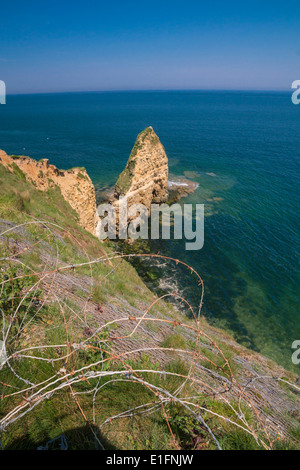 Point Du Hoc, Normandy, France, the site of a daring attack by US army rangers on D-Day, June 6, 1944. - Stock Photo