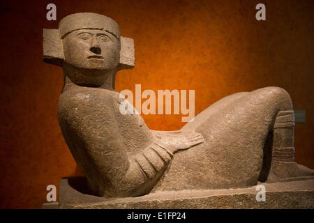 Maya Chac-Mool from Chichen Itza, National Museum of Anthropology, Mexico City, Mexico, North America - Stock Photo