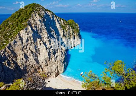 Greece, Ionian island, Zante island, Shipwreck beach - Stock Photo