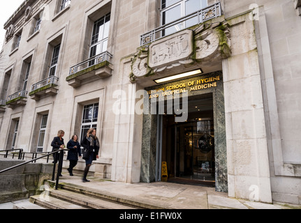 The main entrance to London School of Hygiene and Tropical Medicine in London, UK - Stock Photo