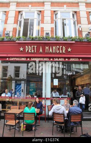 london england uk pret a manger shop front stock photo 62716386 alamy. Black Bedroom Furniture Sets. Home Design Ideas