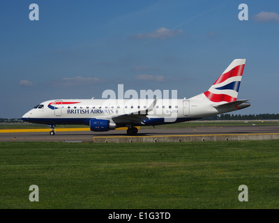 G-LCYD BA CityFlyer Embraer ERJ-170STD (ERJ-170-100) at Schiphol (AMS - EHAM), The Netherlands, 16may2014, pic-2 - Stock Photo