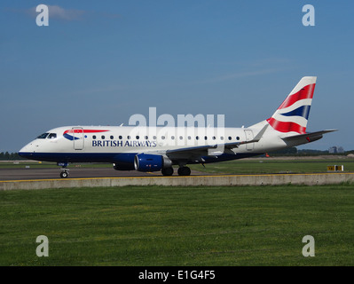 G-LCYD BA CityFlyer Embraer ERJ-170STD (ERJ-170-100) at Schiphol (AMS - EHAM), The Netherlands, 16may2014, pic-1 - Stock Photo