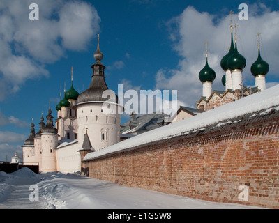 Outer wall of Rostov Kremlin, Russia - Stock Photo