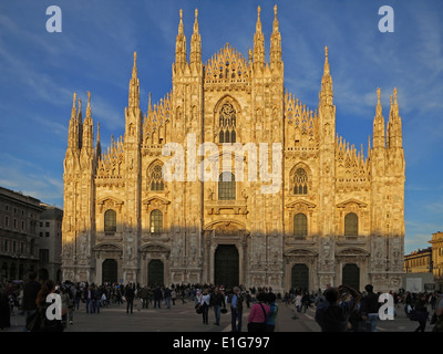 Milan Cathedral (Italian: Duomo di Milano; Lombard: Domm de Milan) is the cathedral church of Milan, Italy. - Stock Photo