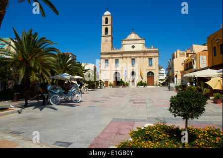 Greece, Crete island, Chania, orthodox cathedral - Stock Photo