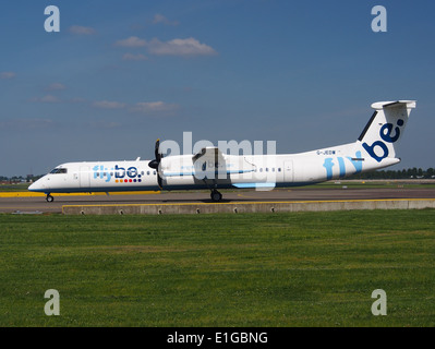 G-JEDW Flybe Dash 8 at Schiphol (AMS - EHAM), The Netherlands, 16may2014, pic-2 - Stock Photo