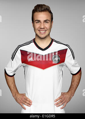 FIFA World Cup 2014 - photocall Team Germany, 24 May 2014 in Passeier, Italy: Mario Goetze. Photo credit: Bongarts/Getty - Stock Photo