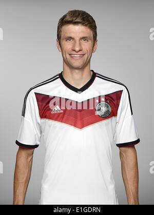 FIFA World Cup 2014 - photocall Team Germany, 24 May 2014 in Passeier, Italy: Thomas Mueller. Photo credit: Bongarts/Getty - Stock Photo