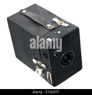 Kodak Brownie Junior No 2 Camera, roll film camera, made In England in the 1930's. - Stock Photo