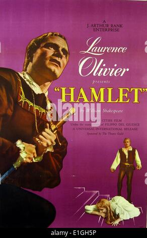 Laurence Olivier 'Hamlet'.  Hamlet a 1948 British film adaptation of William Shakespeare's play. - Stock Photo