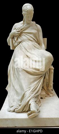 Sappho, marble.  Comte Prosper D'Epinay (1836-1914) Mauritian-born artist, active in France and Italy; Rome, about - Stock Photo