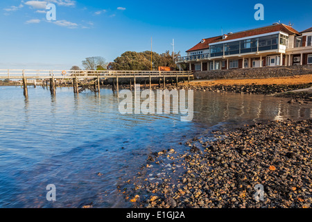 Jetty at Yarmouth on the Isle Of Wight England UK Europe - Stock Photo