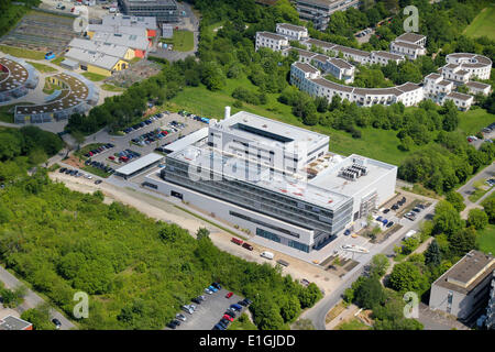 Aerial view of Max Planck Institute for solar system research Göttingen (Lower Saxony, Germany), picture taken at - Stock Photo