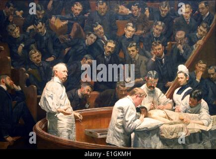 The Agnew Clinic by Thomas Eakins. The Agnew Clinic, or, The Clinic of Dr. Agnew, is an 1889 oil painting by American - Stock Photo