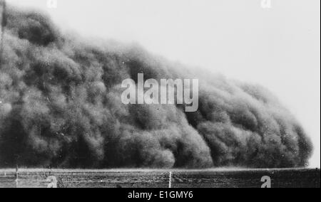 Photograph of a Colorado dust bowl. Dated 1935 - Stock Photo