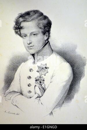 Napoleon II, Duke of Reichstadt, also known as the King of Rome (1811-1832), son of Napoleon I and Marie Louise - Stock Photo