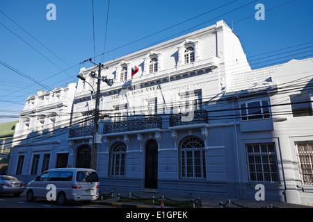 tercera zona naval third naval district headquarters Punta Arenas Chile - Stock Photo