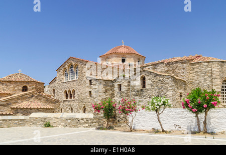 Views of the Byzantine Church of Our Lady of a Hundred Doors, Parikia, Paros, Cyclades, Greece - Stock Photo