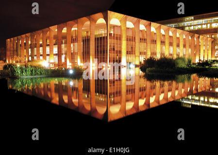 Brazil, Brasilia, Distrito Federal, brazilian capital, Ministry for Foreign Affairs, Itamaraty Palace, Oscar Niemeyer, - Stock Photo