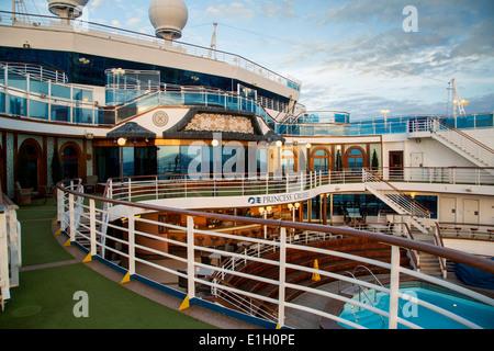 At sea aboard the Emerald Princess Cruise Ship - Stock Photo