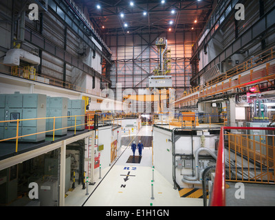 Interior view of reactor hall in nuclear power station - Stock Photo