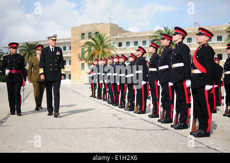 Adm. Samuel J. Locklear III, commander, U.S. Naval Forces Europe-Africa, and Allied Joint Forces Command Naples, - Stock Photo