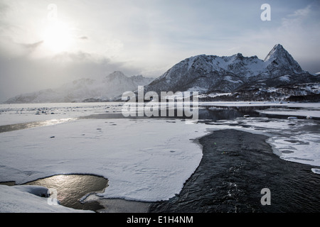 Landscape, Lofoten, Norway - Stock Photo