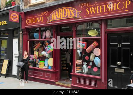 UK, England, London, sweetshop, sweets, - Stock Photo