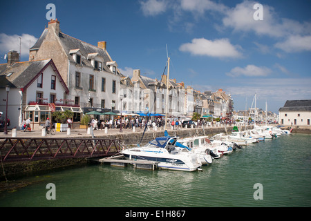 Yachts in the port of Le Croisic Brittany France - Stock Photo