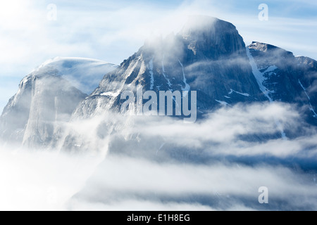 Mountain in Buchan Gulf, Baffin Island, Canada - Stock Photo