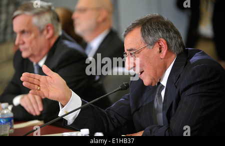 Secretary of Defense Leon E. Panetta testifies before the committee about the fiscal 2013 National Defense Authorization - Stock Photo