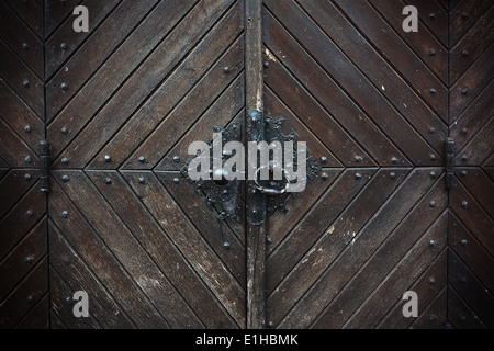 Detail of an old gate - Stock Photo