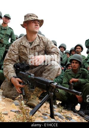 U.S. Marine Corps Pfc. Michael Fairbanks, a rifleman with the 1st ...